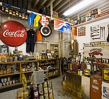 Garage on Route 66 by Bob Estrin