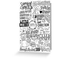 midnight memories collage Greeting Card