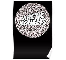 Arctic Monkeys Flower Circle Poster