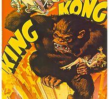 Vintage KING KONG Kids Tee by TroubleSoulTees