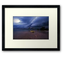 safe anchorage Framed Print