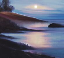LAKE AT NIGHT by SaraDiane
