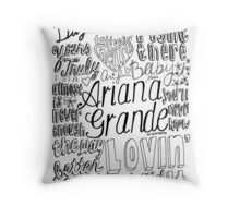 yours truly collage Throw Pillow