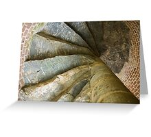 Looking Up The Spiral Stairs Greeting Card