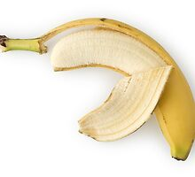 Peeled Banana as Healthy and Nutritious Fruit by etienjones