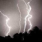 Lightning - 4 strikes by Duncan Waldron