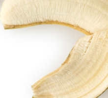 Peeled Banana as Healthy and Nutritious Fruit Sticker