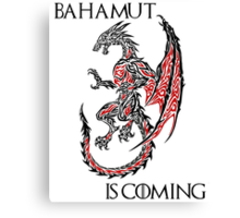 Bahamut Is Coming Canvas Print