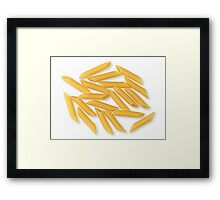 Penne Rigate as Healthy Italian Cooking Ingredient  Framed Print