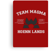 Team Magma Canvas Print