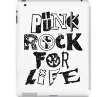 Punk Rock For Life iPad Case/Skin