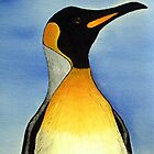 Penguin Oil Painting by Karen Harding