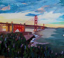 Golden Gate Bridge San Francisco at Sunset by artshop77
