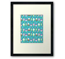 funny pattern of ice cream Framed Print
