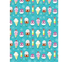 funny pattern of ice cream Photographic Print