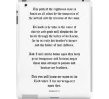 Ezekial 25:17 (Old English) iPad Case/Skin