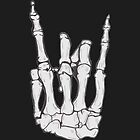 Skeleton hand | White by jellyelly