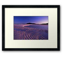 Tidal art - Hill inlet, Nth Qld Framed Print