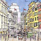 Porta soprana, Genova  by Luca Massone  disegni