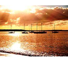 sailing the morning  Photographic Print