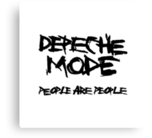 Depeche Mode : People are People - 1 - Black Canvas Print