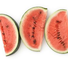 Watermelon Slices as a Healthy and Nutritious Fruit by etienjones