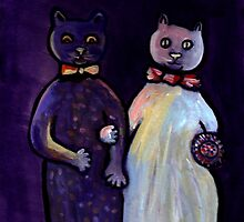 The cats wedding digitally enhanced (from my original acrylic painting) by sword