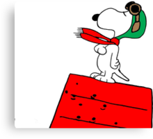 Snoopy Red Baron Canvas Print