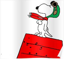 Snoopy Red Baron Poster