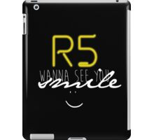 R5 wanna see you smile (white) iPad Case/Skin