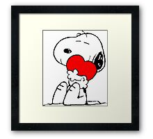 Snoopy in love Framed Print