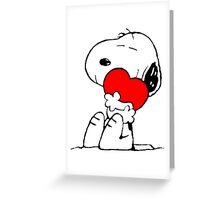 Snoopy in love Greeting Card