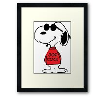 Snoopy in Joe Cool Framed Print