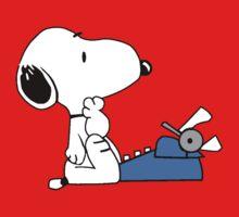 Snoopy typewriting by gaberje