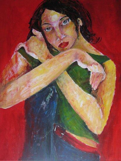 GIRL POSING by GittiArt