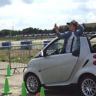 Me in my NEW smart fortwo cabrio playing basketball in it! LOL by toppsy57