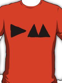 Depeche Mode : Medium Logo DM 2013 - Black T-Shirt