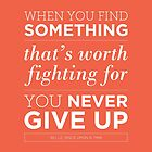 Never Give Up by Redel Bautista