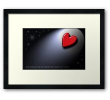 THE WARMTH OF MY HEART Framed Print