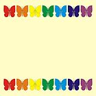 Rainbow Butterflies by CircusValley