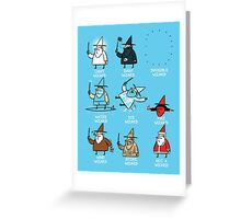 Know Your Wizards ! Greeting Card