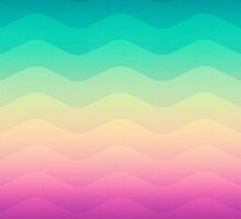 Abstract Geometric  Candy / Rainbow Waves Pattern (Multi Color) by badbugs