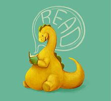 Even Dinosaurs Love to Read by Kirstendraws