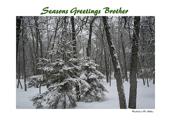 Seasons Greetings Brother by Madeline M  Allen