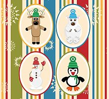 Winter Friends Pattern by solnoirstudios