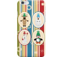 Winter Friends Pattern iPhone Case/Skin