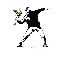 Banksy - Flower Thrower Photographic Print