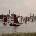 Sailboats by Gilberte