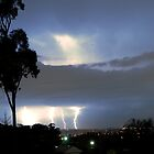 Lightning on the Horizon over Sydney 4 Strikes by DavidIori