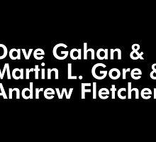 Depeche Mode : Dave Gahan, Martin L. Gore and Adrew Fletcher by Luc Lambert